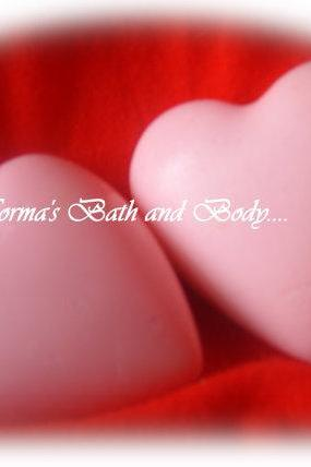 heart valentine soaps. set of 2