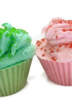 cupcake bath soaps. set of 2