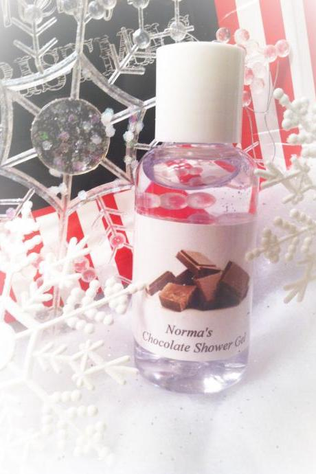 Chocolate bath gel, chocolate, chocolate shower gel, shower gel, bath, bath and body, gifts