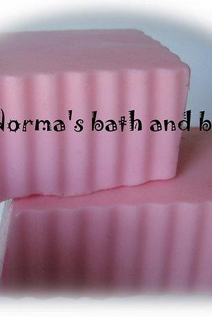 chocolate covered cherry goats milk soap