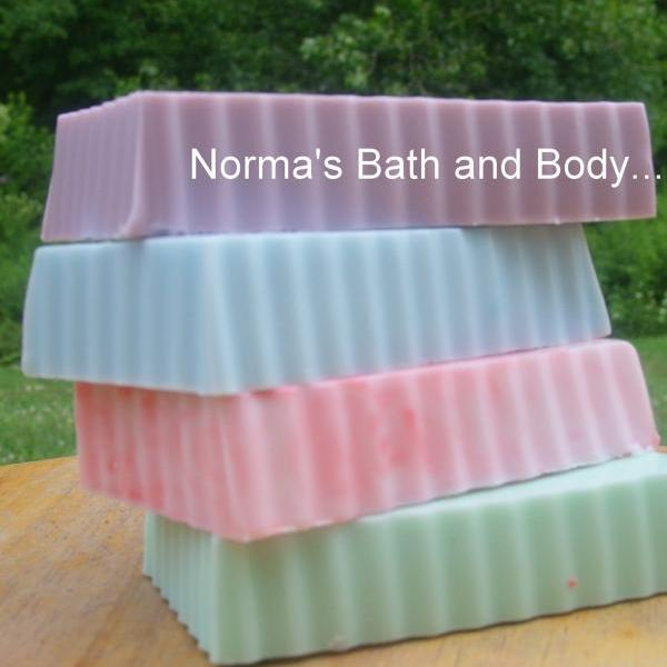 handmade goats milk glycerin soaps. set of 4. ON SALE