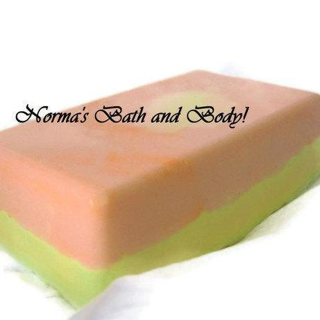 Mango and lemon goats milk soap, soap, beauty, fruity soap, handmade soap, bar soap, glycerin soap