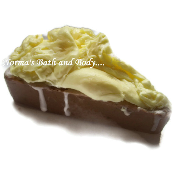 juicy lemon and chocolate kids pie goats milk soap